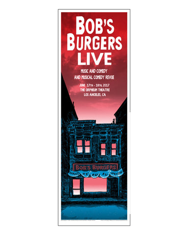 Bob's Burgers x Tim Doyle Unreal Estate 12x36 Art Print -Red/Sunday  (ORPHEUM PICKUP ONLY)