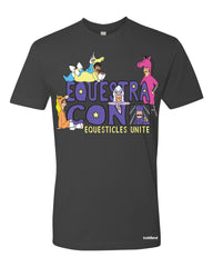 SDCC 2016 Equestra-con tee - dark gray (WONDERCON PICKUP ONLY)