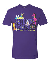 Equestra-con equesticles tee - purple