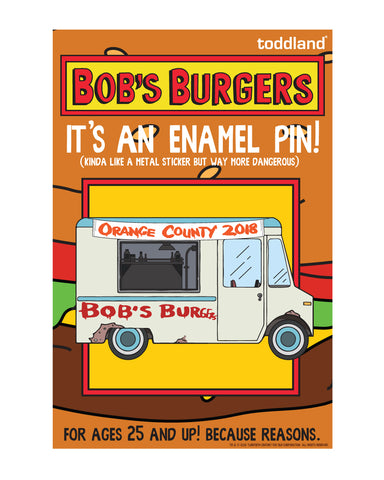 2018 Wondercon Bob's Burgers Food Truck pin - (pickup only)