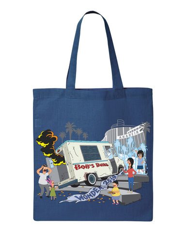 2019 Wondercon Bob's Burgers Fountain Truck tote - blue (pickup only)