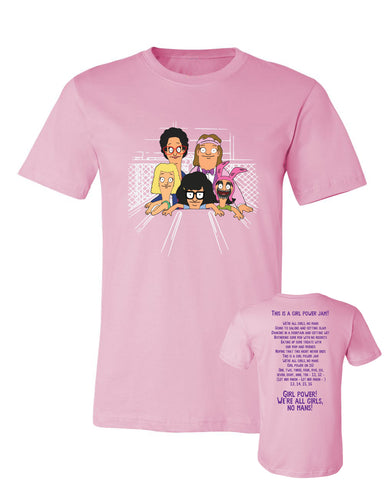 Wondercon 2018 Girl Power tee - Pink (Wondercon pickup only)