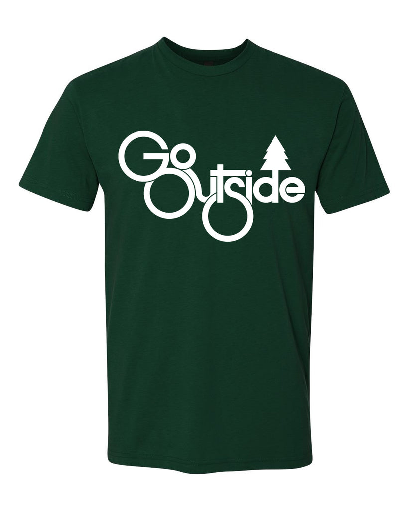 go outside tree tee - forest green - (mens)