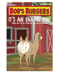 "Bob's Burgers Two Butted Goat 1.5"" pin"