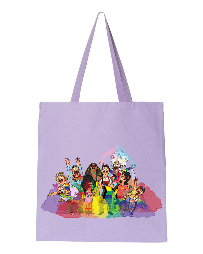 Pride 2020 - Pride Group heavy canvas grocery tote - Bob's Burgers