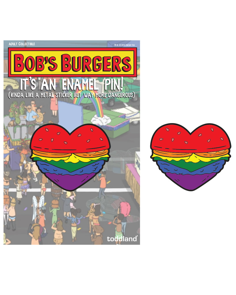 Pride 2020 - Burger Heart enamel pin - Bob's Burgers (limited edition of 225)