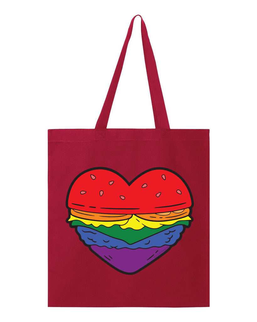 Pride 2020 - Burger Heart heavy canvas grocery tote - Bob's Burgers