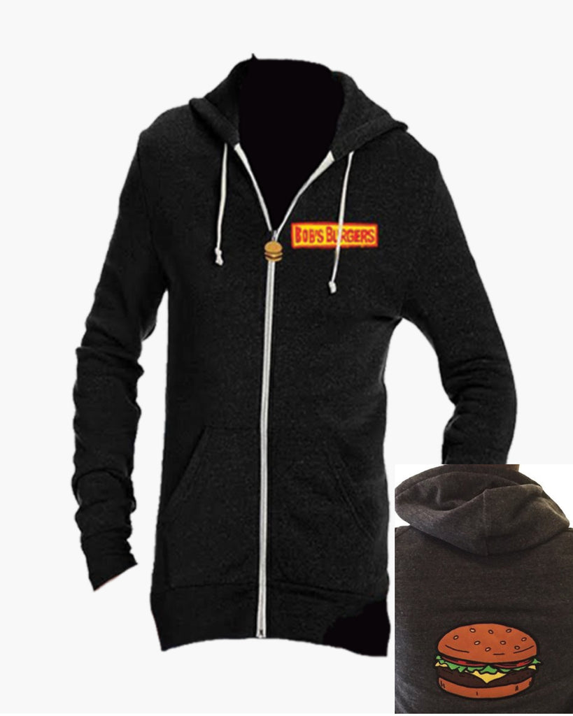 Bob's Burgers Burger Hoodie - black/gray  (ORPHEUM PICKUP ONLY)