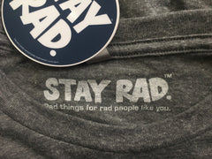 stay rad circle logo shirt (front/back) - mens