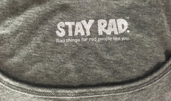 classic stay rad logo tank - womens heather gray tank