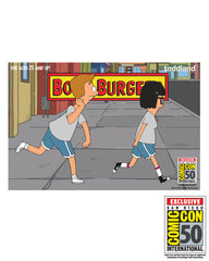 2019 SDCC Bob's Burgers Exclusive Jimmy/Tina running (2 pack) pins