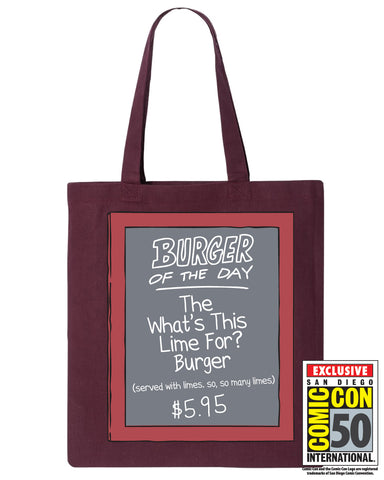 2019 SDCC Bob's Burgers Exclusive Burger of the day tote