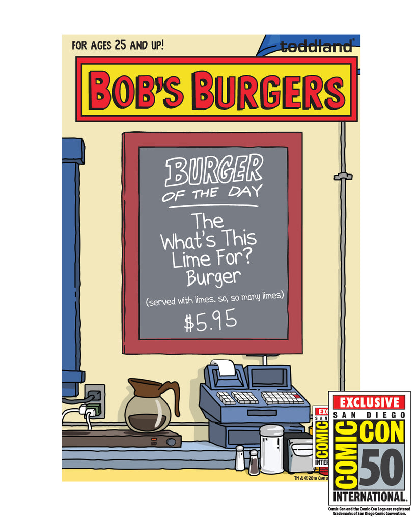 2019 SDCC Bob's Burgers Exclusive Burger of the day pin