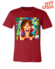 2019 Wondercon Bob's Burgers Jeff Granito tee – Linda/Red (pickup only)
