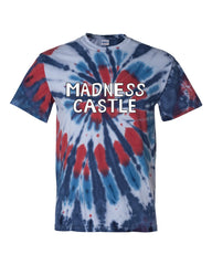 Wondercon 2020 Bob's Burgers Madness Castle tie dye tee (red/white/blue)
