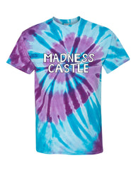 Wondercon 2020 Bob's Burgers Madness Castle tie dye tee (purple/blue)