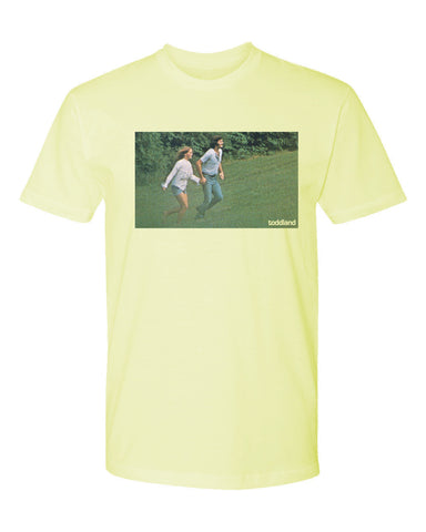 frolicking tee - banana cream - (mens)