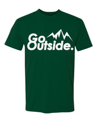go outside tee - forest green - (mens)