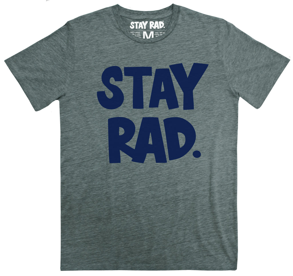 classic stay rad logo shirt - mens