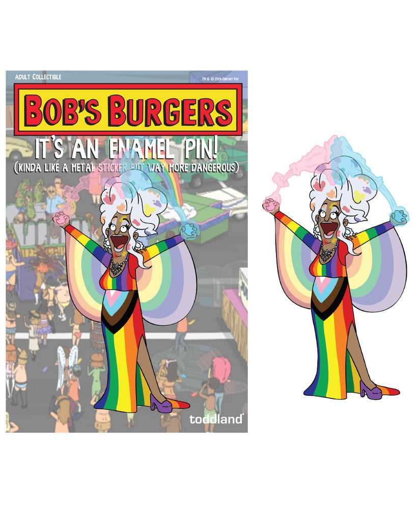 Pride 2020 - Cleavage to Beaver enamel pin - Bob's Burgers (limited edition of 225)