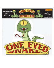 "NYC 2018 Bob's Burgers ""One Eyed Snakes Member patch"" full back vest size  (shipping week of 10/8)"