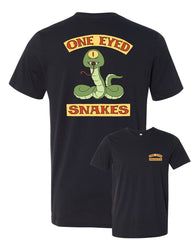 2019 Wondercon Bob's Burgers One Eyed Snakes tee – vintage black (pickup only)
