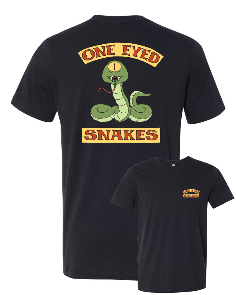 "NYC 2018 Bob's Burgers ""One Eyed Snakes"" tee in black (shipping week of 10/8)"