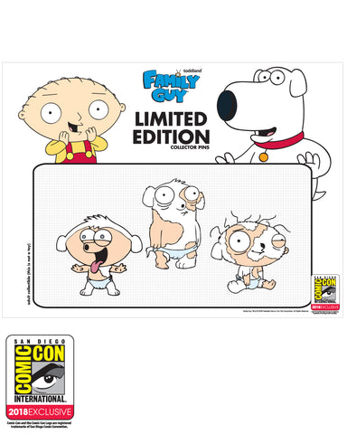 SDCC 2018 Exclusive puppies pins 3pack  (SDCC pickup only) LE#125