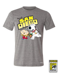 SDCC 2017 - Road to San Diego! - Premium Gray Heather (SDCC pickup only)
