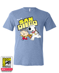 SDCC 2018 Exclusive Road to San Diego Tee blue triblend (SDCC pickup only)