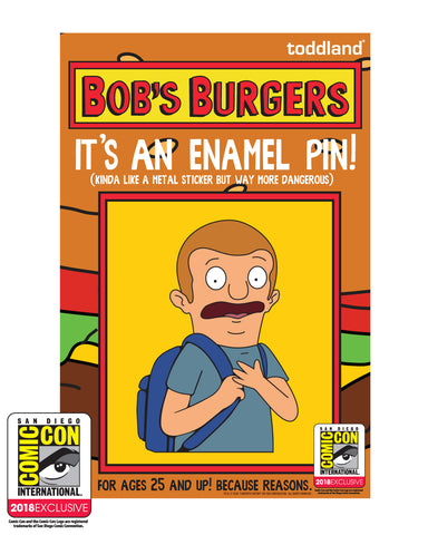 2018 SDCC Bob's Burgers Regular sized Rudy pin - (pickup only)