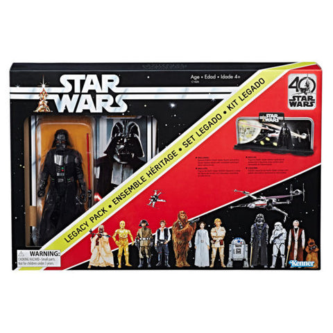 "Hasbro - 6"" Star Wars Black Series 40th anniversary - Display Diorama w/Darth Vader Figure - - (in stock)"