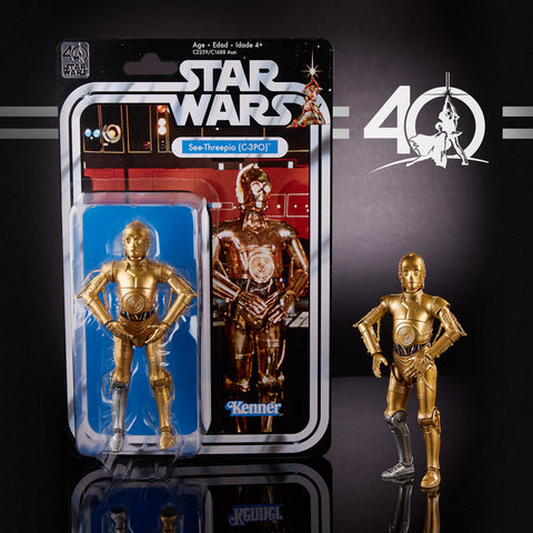 "Hasbro - 6"" Star Wars Black Series 40th anniversary - C3PO"