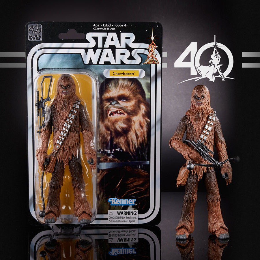 "Hasbro - 6"" Star Wars Black Series 40th anniversary - Chewbacca"