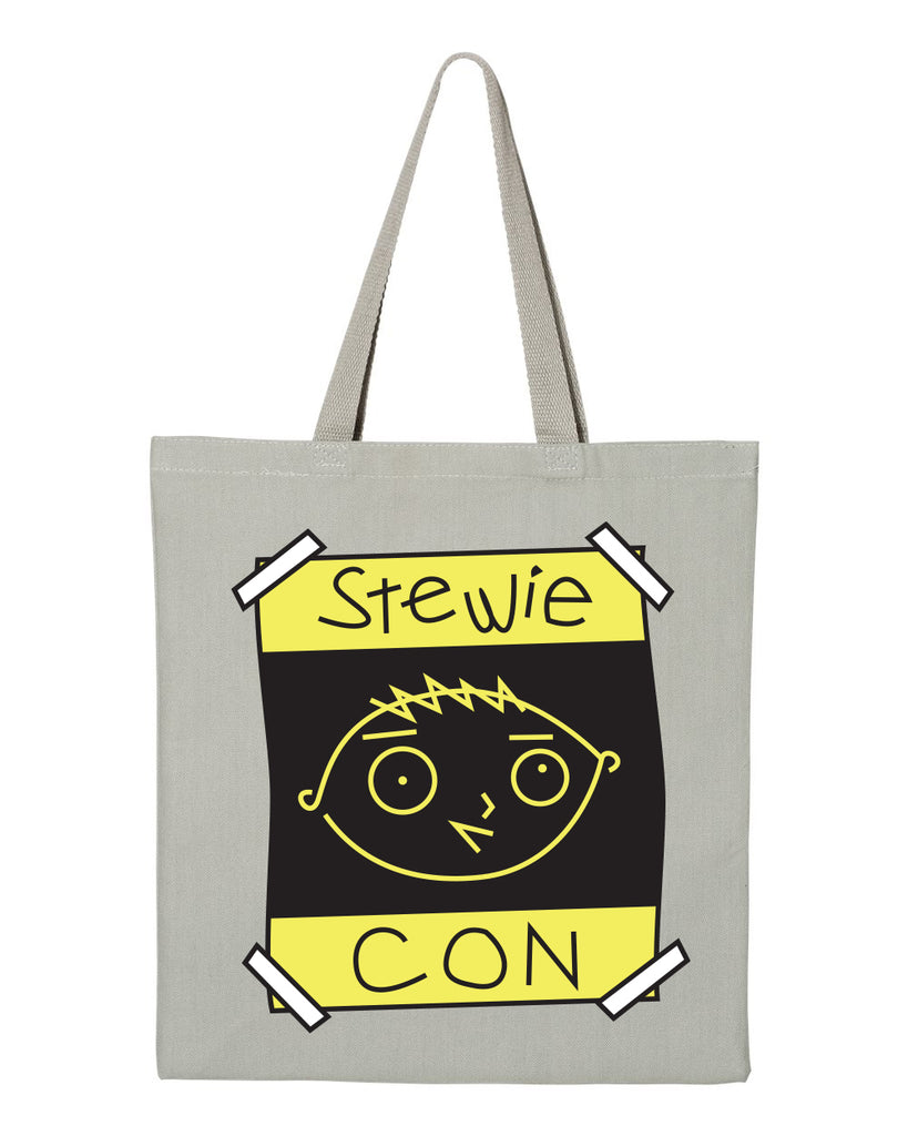 2020 Family Guy Stewie Con logo heavy canvas grocery tote