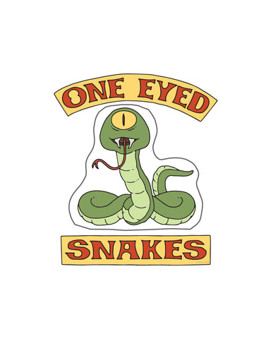 Bob's Burgers One Eyed Snakes sticker