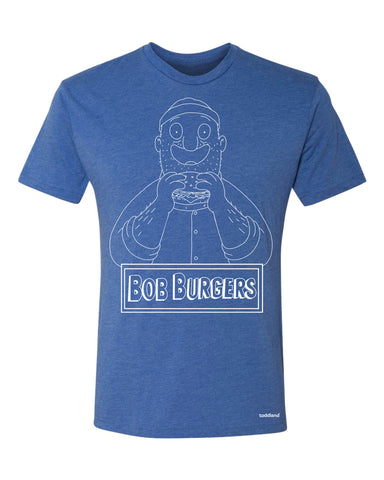 "SDCC 2017 - Teddy ""Bob"" Burgers tee - Royal Blue Heather Triblend (SDCC pickup only)"
