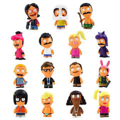 "Bob's Burgers Kidrobot Series 2 - 3"" blindbox figures"