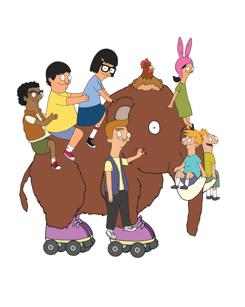2019 SDCC Bob's Burgers Wheelie Mammoth sticker