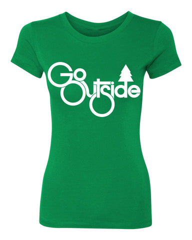 go outside tee - kelly green - (womens)