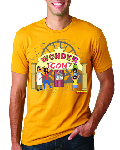 Bob's Burgers Wondercon 2017 exclusive tee - gold (WONDERCON PICKUP ONLY) le of 50pcs