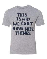 this is why we can't have nice things tee - light heather gray - (youth) (CURRENTLY SOLD OUT)