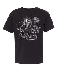 otter space tee - black - (youth) (CURRENTLY SOLD OUT)
