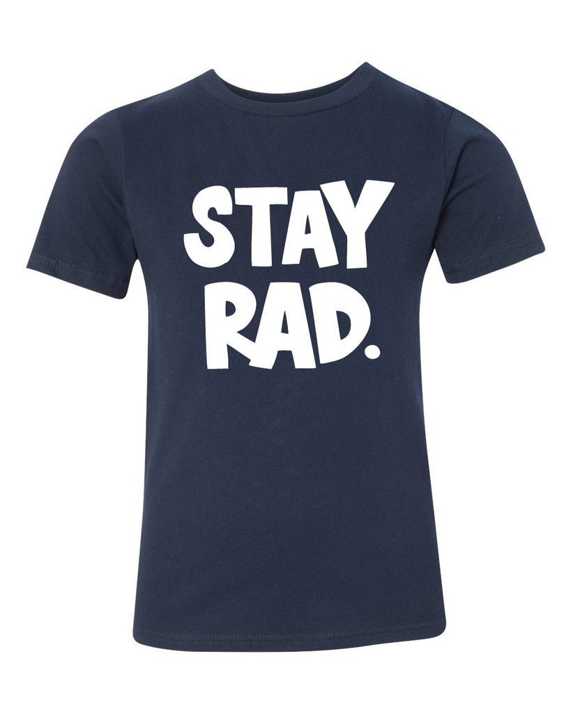 stay rad tee - navy - (youth) (CURRENTLY SOLD OUT)