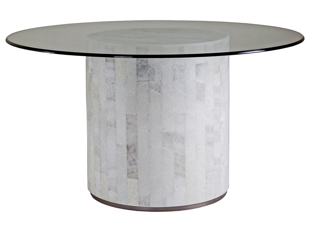 Greta Round Dining Table With Glass Top