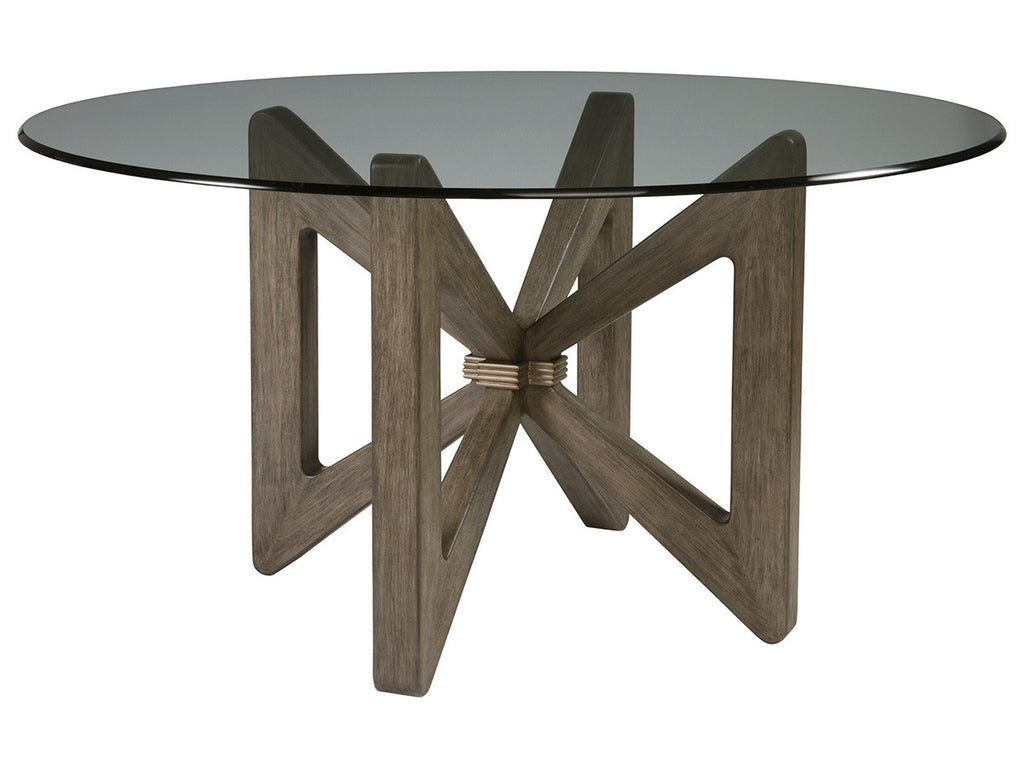 Butterfly Round Dining Table With Glass Top