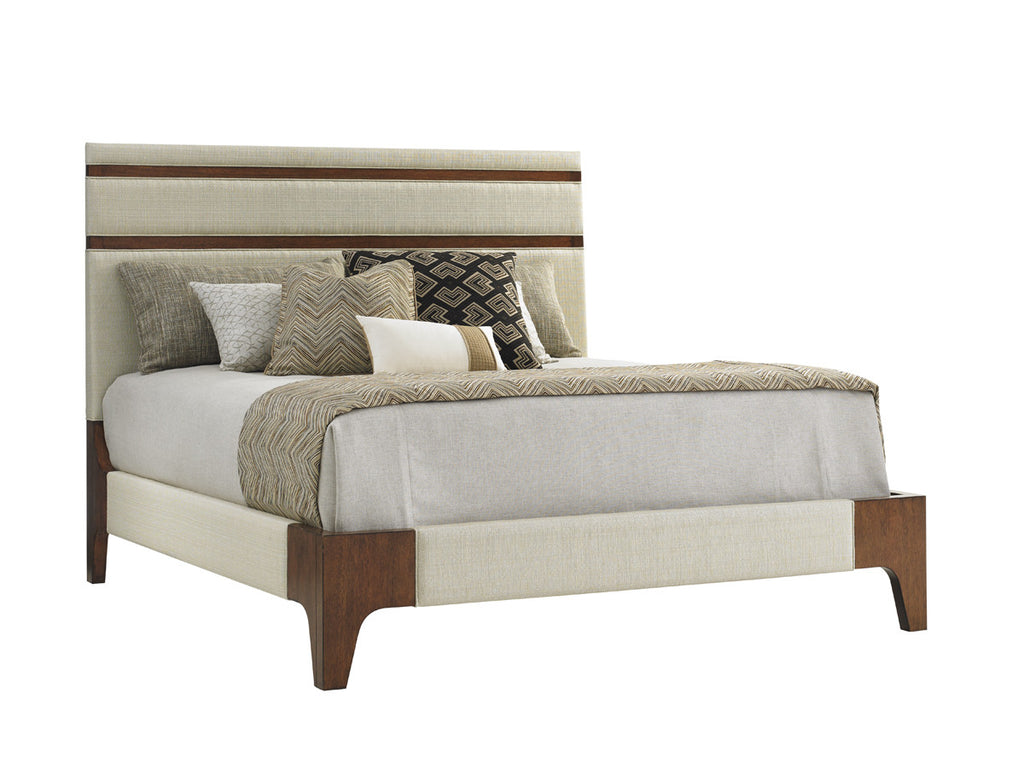 Mandarin Upholstered Panel Bed