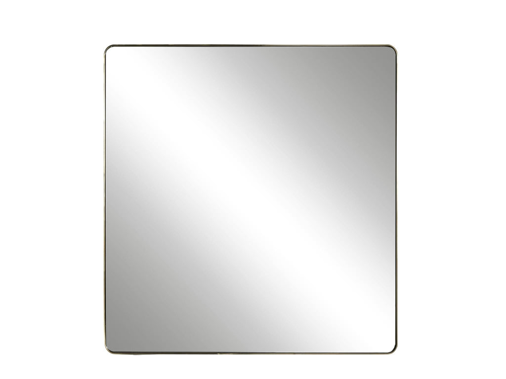 Modern Accent Mirror - Brushed Brass