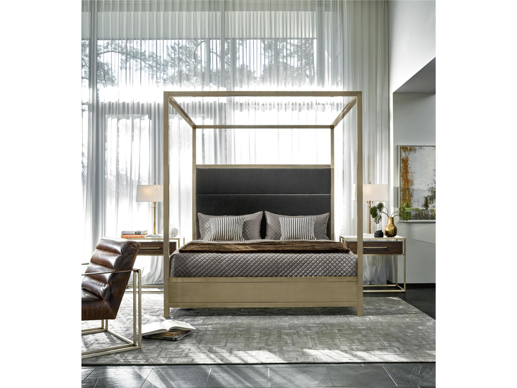 Modern Harlow King Canopy Bed