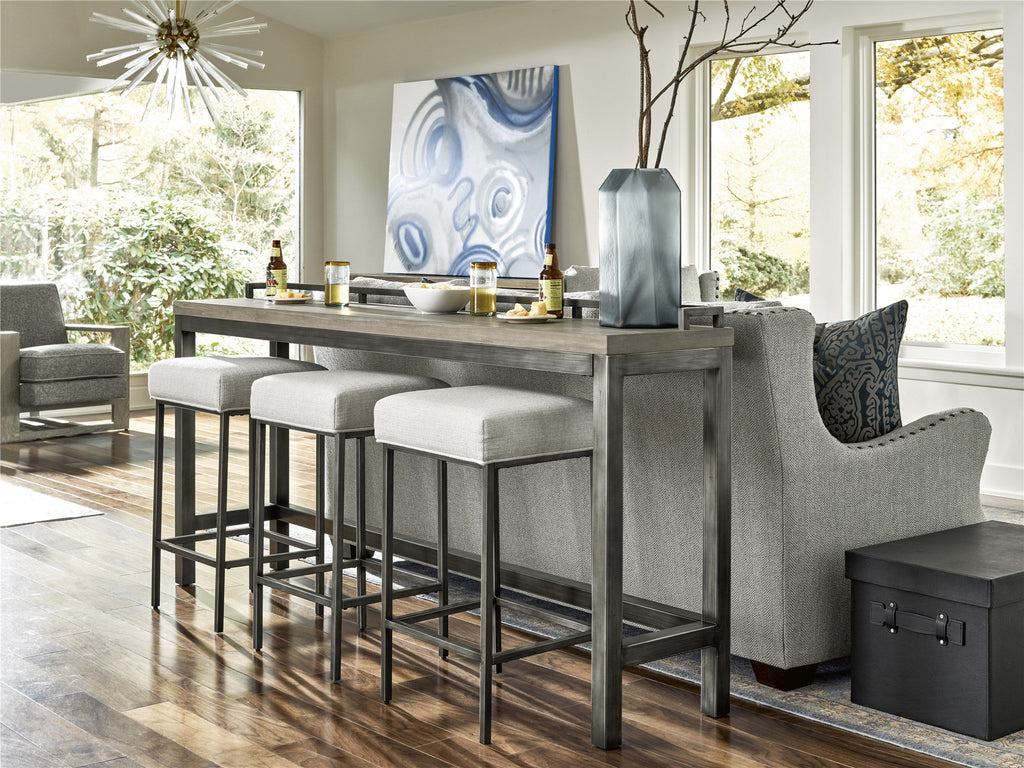 Curated Mitchell Console Table with 3 Stools